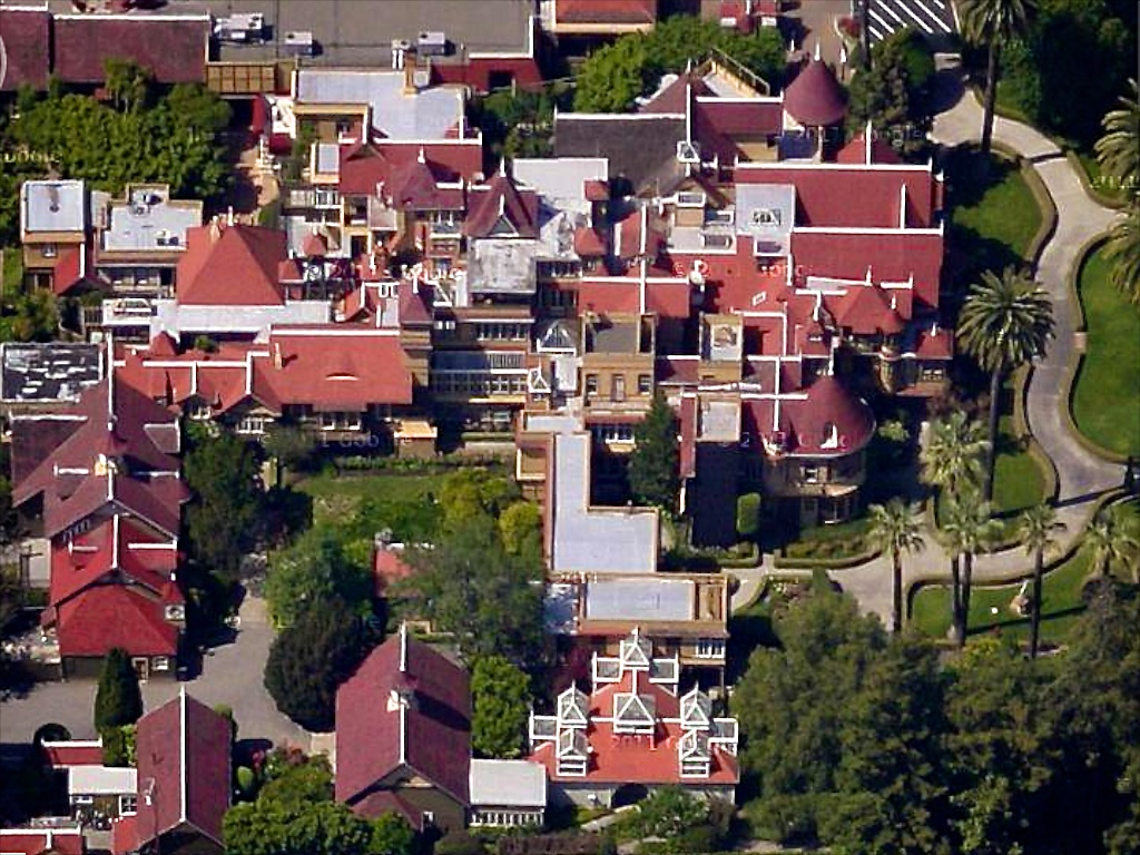 Winchester House From Air