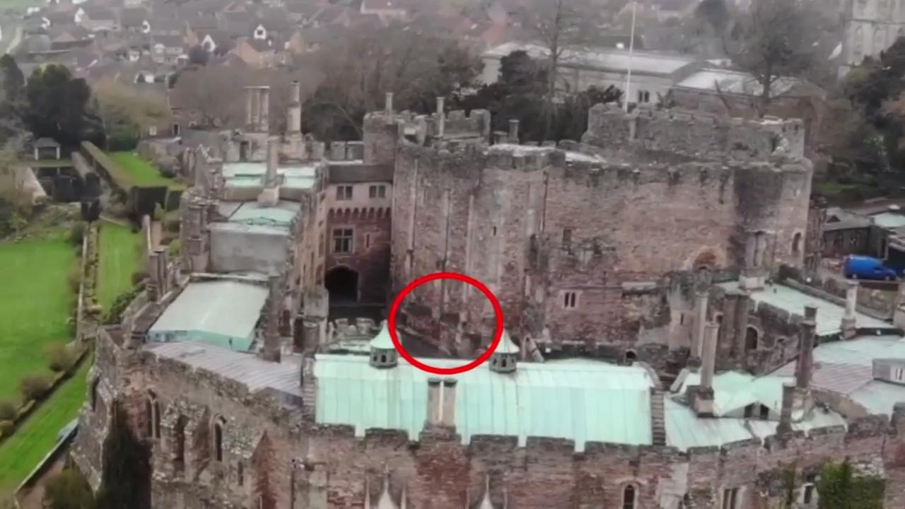 Drone Captures Ghost Of Knight On Horseback