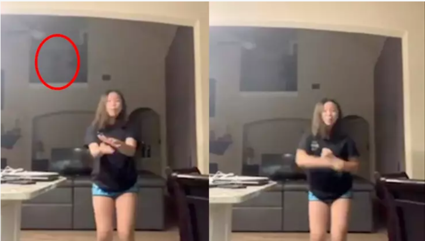 Girl Captures Ghost In TikTok Video... Maybe